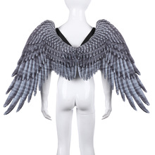 Halloween Carnival Party Props For Kids Angel Wings Cospaly Boy Girl Child Black White Back Supplies Decor