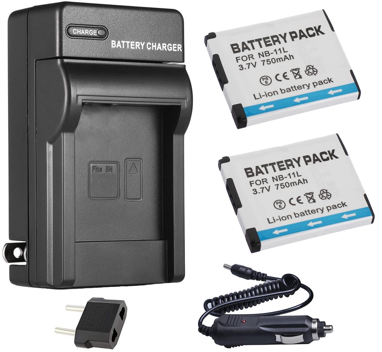 cable de carga para Canon 132 140 155 245 hs 275 Ixy 420f Batería cargador para coche