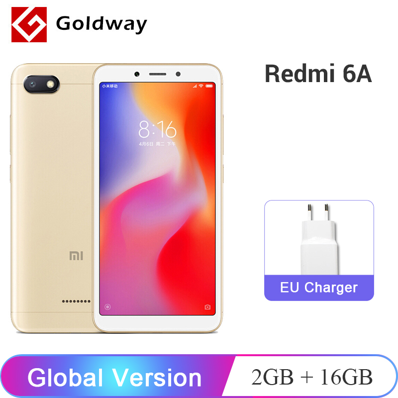Global Version Xiaomi Redmi 6A 6 A 2GB 16GB Smartphone Helio A22 Quad Core 5.45″ 13.0MP Camera 3000mAh Battery CE OTA Update