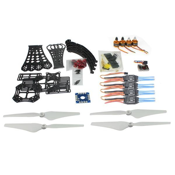 F14893-G DIY RC Drone Quadrocopter X4M380L Frame Kit QQ Super Motor ESC Props diy rc drone quadrocopter rtf with x4m380l frame kit qq super fs i6 tx f14893 h