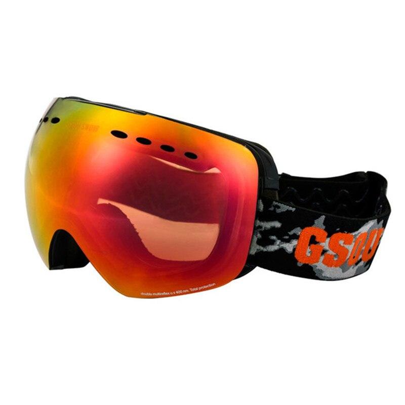 GSOU lunettes de Ski de neige pour hommes et femmes extérieur multicolore Snowboard lunettes hiver professionnel unisexe Ski de neige Sports verre - 3