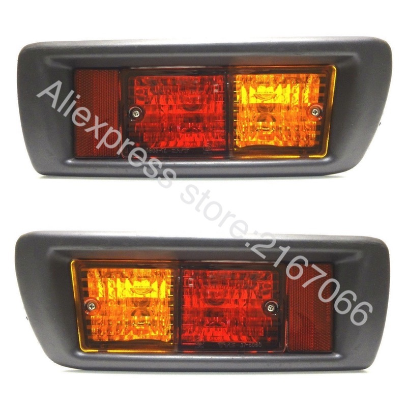 Tail Lights for TOYOTA LAND CRUISER PRADO 1996 1997 1998 1999 2000 2001 2002 Reflector Light Pair In Rear Bumper
