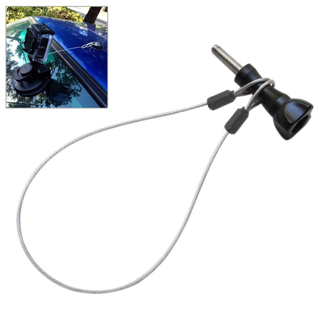 For Go Pro Accessories 60cm Stainless Steel Lanyard Tether for GoPro HERO5 4 Session GoPro Hero 5 Black edition/HERO 5 4 3+3 2 1