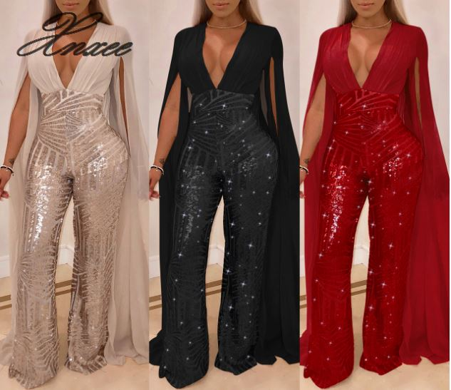 Xnxee Europe and America sexy sequin evening dress fashion suit in Women 39 s Sets from Women 39 s Clothing