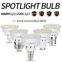 E27 LED Bulb GU10 LED Lamp 220V MR16 Spotlight Lamp LED Bombillas E14 Corn Bulb GU5.3 Spot Light Ampul 2835SMD 3W 5W 7W B22 240V spotlight gu10 7w mr16 spot light gu5 3 lamapada led e14 5w light bulb 220v led corn lamp e27 2835smd bombillas house led light