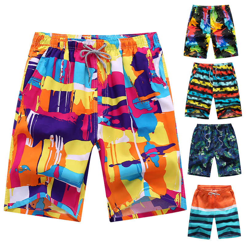 7fd74f3284 Men Printed Beach Shorts Quick Dry Running Shorts Swimwear Swimsuit Swim  Trunks Beachwear Sports Shorts Plus
