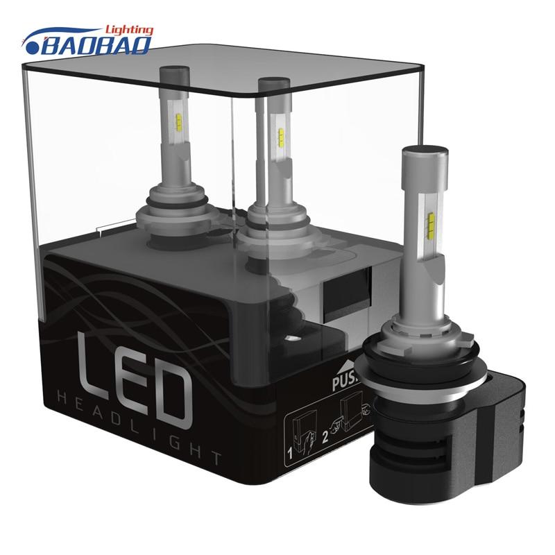 BAOBAO T5 Universal CSP LED Car Headlight 24V 55W 6000K H1/H4/H7/H9/H11/9005/9006/9012 Waterproof Aluminum
