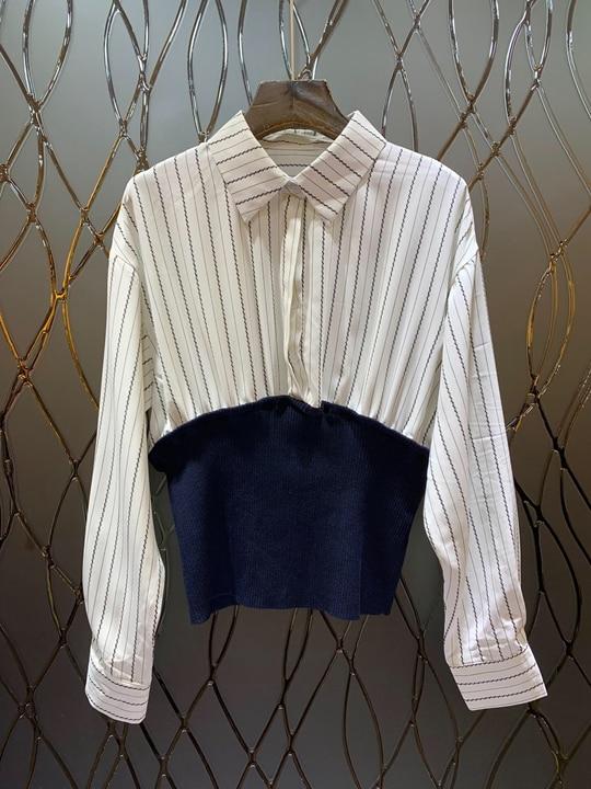 Noir Nouveau De Début 2019 Printemps Au multi Femmes Revers Knit Top Sauvage Hem Du qIwZ47