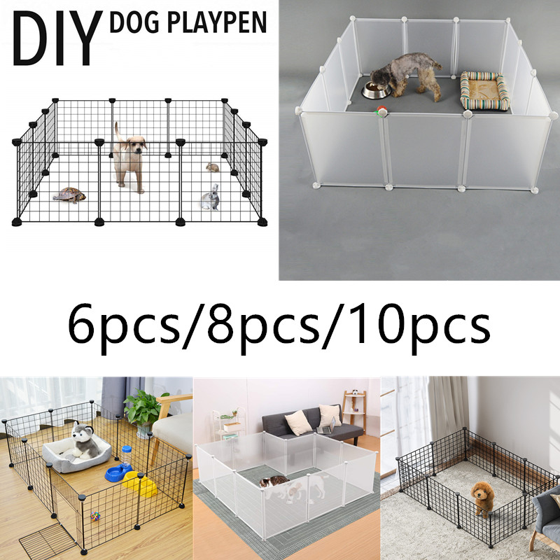 Small Animal Cage Foldable Pet Dogs Playpen Crate Fence Puppy Kennel House Exercise Training Cage Puppy Kitten Space Dog Supplie