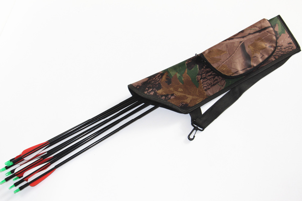 Camouflage Archery Hunting Arrow Archery Quiver Holder Arrows Bow Quiver Bag a quiver full of arrows