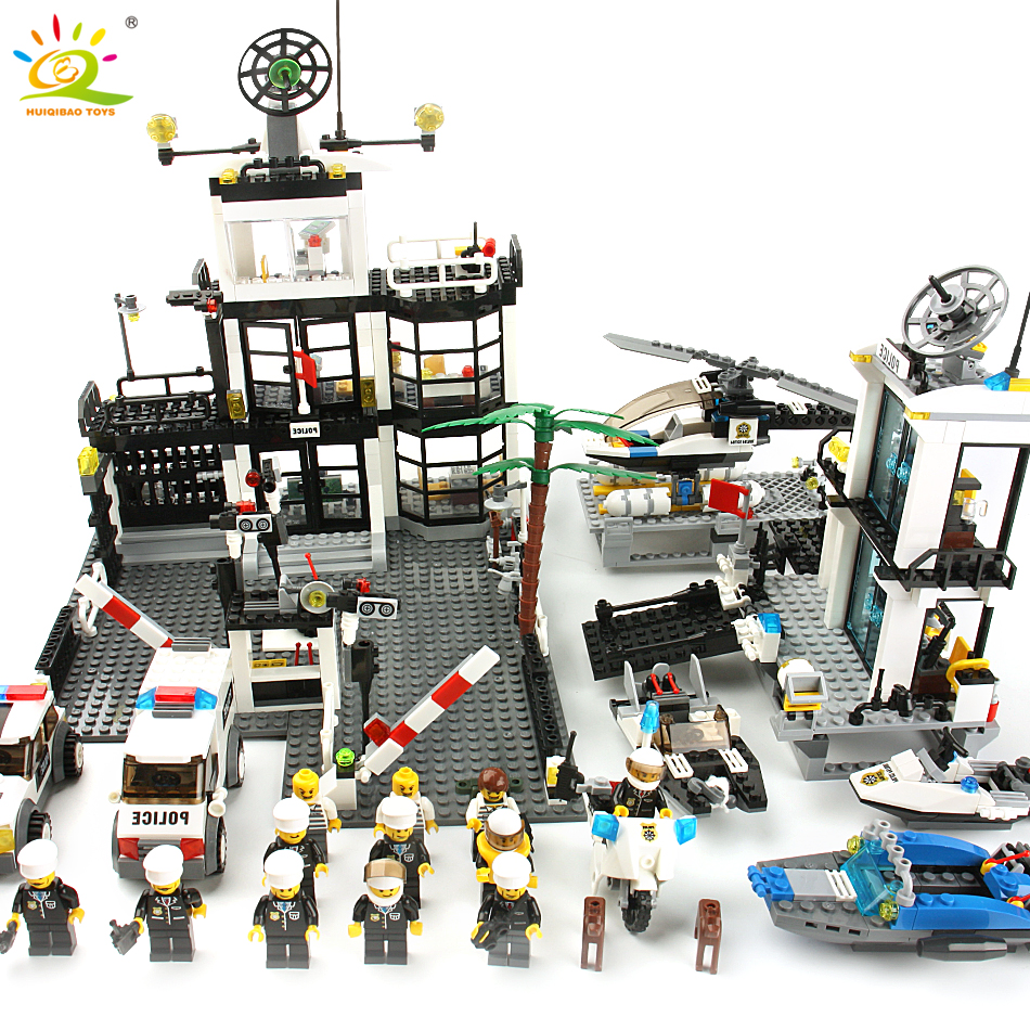 Police Station Prison Van Building blocks Figures Toy Compatible legoingly City Helicopter Educational Bricks Toys For ChildrenPolice Station Prison Van Building blocks Figures Toy Compatible legoingly City Helicopter Educational Bricks Toys For Children