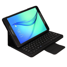 Wireless Bluetooth font b Keyboard b font PU Leather Cover Protective Smart Case For Samsung Galaxy