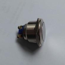 Бесплатная доставка 22 мм из нержавеющей стали мгновенный нормально открытый push бутон переключатель