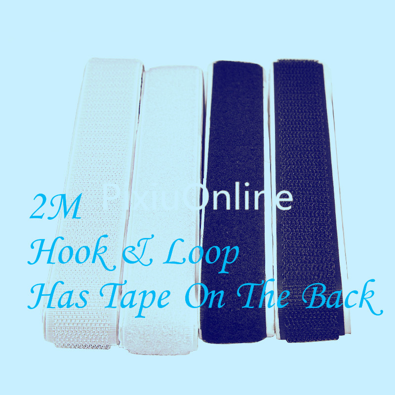 25mm Button Zip Replacement Substitute 2.5 Metres Of Hook And Loop Tape