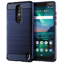 for nokia 3.1 plus case silicone us carbon fiber cell phone back cover solid color cases