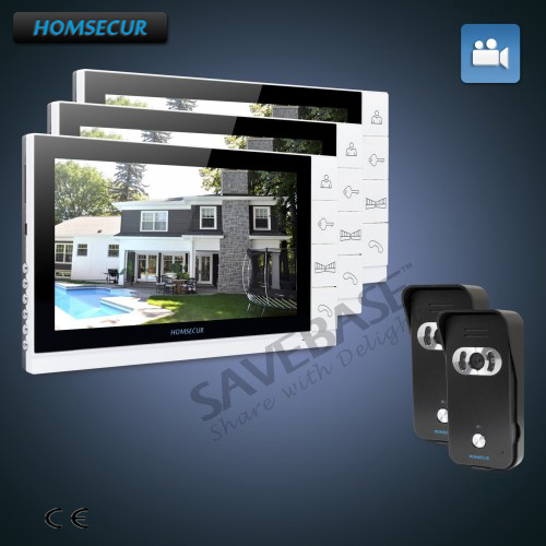 HOMSECUR 9 Wired Video&Audio Home Intercom+Dual-way Intercom for Home Security