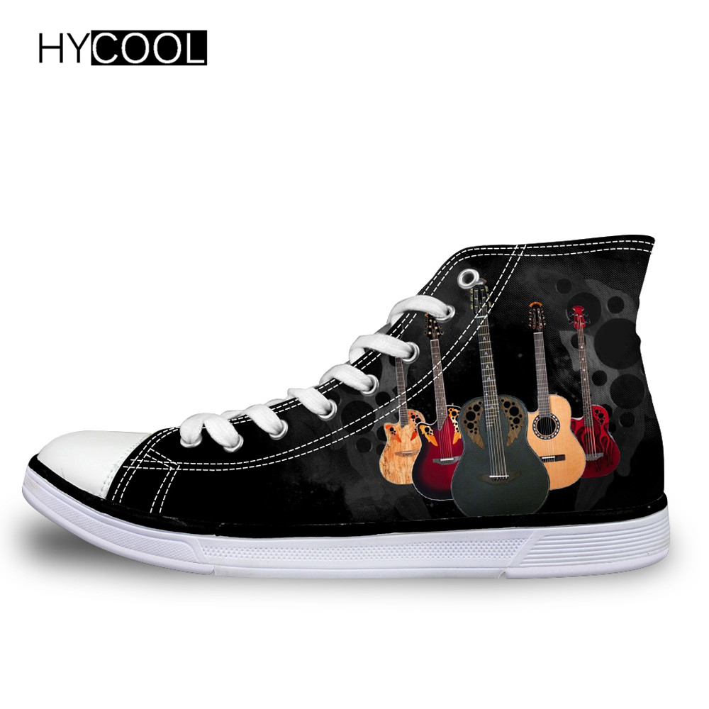 HYCOOL Children Shoes Sneakers for Boys Rock Guitar Pattern Kids Shoes Student Sport Running School Child Shoes for Girls 2018