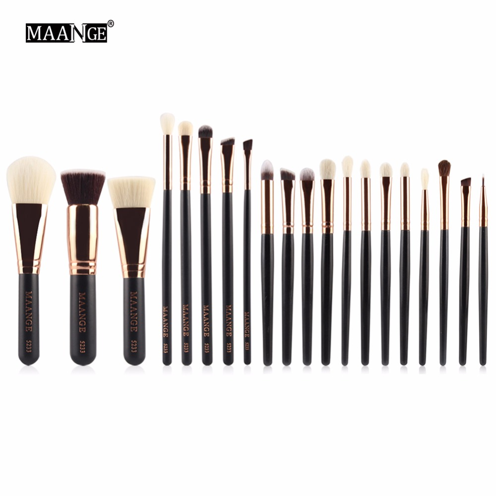 MAANGE 8/20 Piece Makeup Brushes Set Powder Foundation Contour Blending Eye Shadow Cosmetic Face Beauty Brush Tool Kits Pincel vander 5pcs pro lollipop shaped makeup brushes set powder foundation eye shadow beauty face lip blusher cosmetic brush blending
