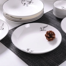 Bone China dish deep plate shallow creative European style steak porcelain bird microwave new h