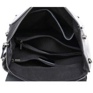 Image 5 - Женский дорожный рюкзак POMELOS, модный дизайнерский рюкзак из спилковой кожи, женский рюкзак, дамская сумка