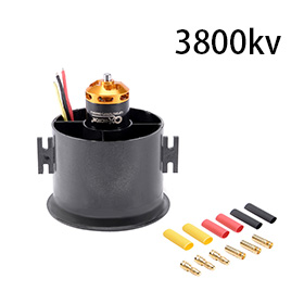 цена на Uxcell(R) Hot Sale 1Pcs 70mm 6 Blades EDF Ducted Fan Set Jet Engine with 3800KV RC Brushless Motor for RC Airplane