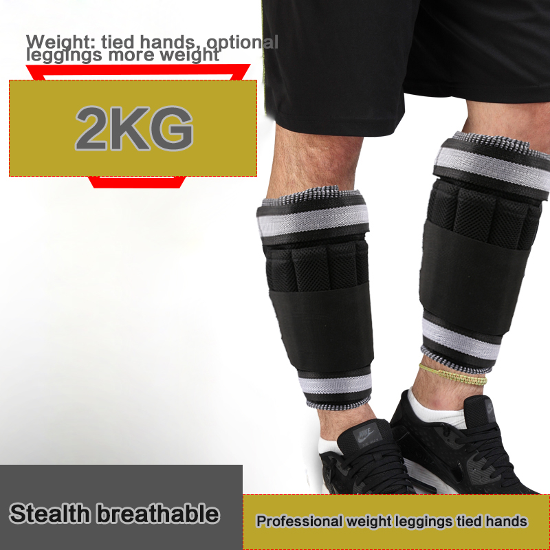 ФОТО 2 KG = 1Pair Adjustable Ankle Leg Weights Straps Strength Training Exercise Gym Running Fitness Equipment