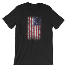 2019 Mens 13 Star American Flag T-shirt Betsy Ross USA History Patriotic RETRO VINTAGE Classic t-shirt