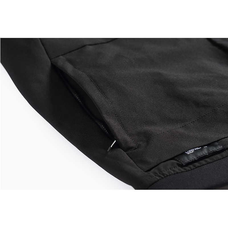 Enjeolon ブランド春スタンド襟ジャケットコート男性ブラックソリッドメンズ 3XL コート男性のためのカジュアルな服装の男性コート JK629