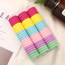 3cm 66pcs Box 50pcs Bag Headwear Hair Accessories Rubber Rope Elastic Hair Bands For Girls Kids Children Baby Charms Tie Gum cheap Nylon 2018 New Fashion Aikelina Solid