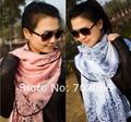 2016 Koral style blue and white porcelain chiffon scarf,Women Bandelet,Muffler,Neckerchief Scarves 140*80cm #2976