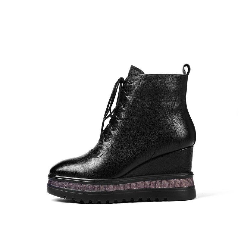 Esrfiyfe Sexy Chaussures Noir Talons Femme Plate 42 Cheville 34 Femmes Automne forme Taille Des 2019 Véritable Cuir Bottes Hauts Hiver A6AYr