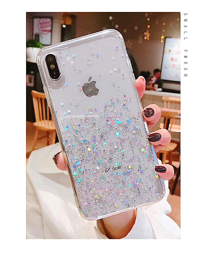 HTB1.OgJarys3KVjSZFnq6xFzpXaB - Luxury Bling Glitter Stars Sequins Case For iPhone 11 Pro XS MAX XR X Transparent Silicone Case For iphone 8 7 6 6S Plus Cover