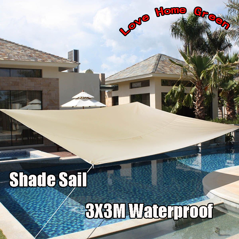Aliexpress.com : Buy New Waterproof Garden Shade Sail Canopy Square Sun  Shade Net 3X3M Combination Awning UV From Reliable Sun Shade Net Suppliers  On Love ...