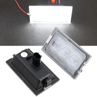 2Pcs White CANbus 18 LED Door Courtesy Lights Lamps For Land Rover Discovery LED Automotive Parking