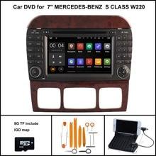 Android 5.1 Jogador DO CARRO DVD para MERCEDES Benz Classe S W220 S280 S320 S350 S400 S420 S430 S500 S600 Navegação GPS Wifi 3G