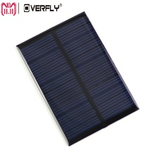 Overfly 6V 0.6W Solar Panel Solar System DIY  Portable Solar Power Panel For Battery Cell Phone Chargers Solar Panel