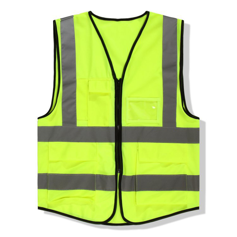 ZK30 High Quality High Visibility Reflective Vest Working Clothes Motorcycle Cycling Sports Outdoor Reflective Safety Clothing fluorescence yellow high visibility