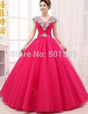 rhinestone hot font b pink b font medieval font b dress b font Renaissance gown Sissi