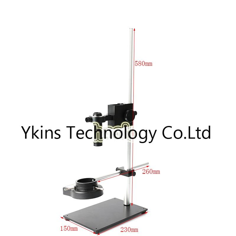 All-metal bracket extension bracket Adjustable microscope bracket + 1X-100X zoom C-mount lens for video microscope cameras 60 100x zoom led digital microscope lens case for samsung i9300 black