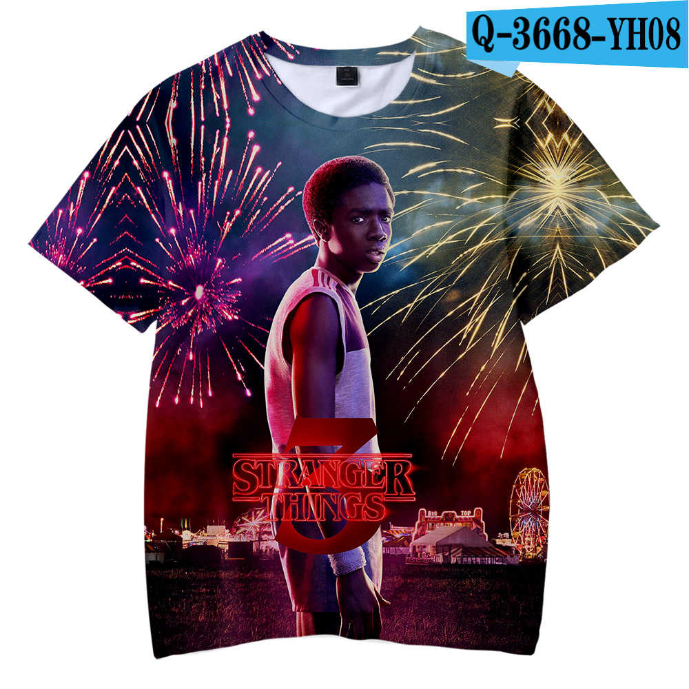 Harajuku Fashion Freddo Bambini t shirt Straniero Cose 3D Stampato 2019 T Camicette TV Straniero Cose del capretto di Marca Magliette t-shirt