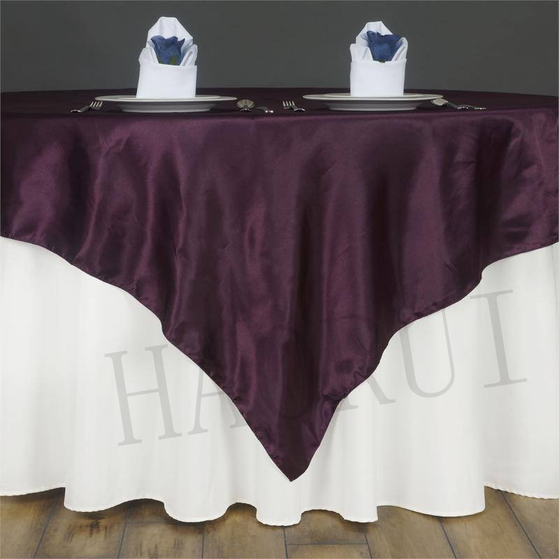 Buy free shipping 10pcs eggplant 85x85 for 85 table overlay