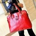 4 Color 2017 Nueva Marca Casual Solid Mujeres de Cuero Bolsos de Las Señoras Bolsa de Asas Casual Feminina Vintage Women Messenger Bags A1250