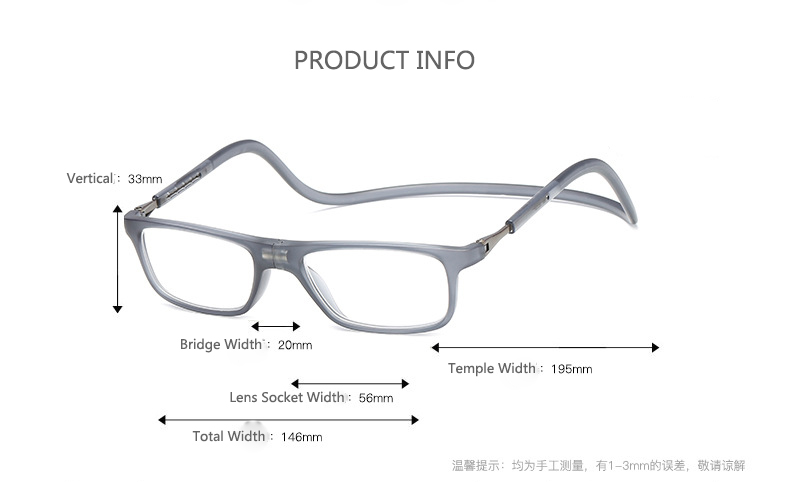 Coyee 3 colors Magnet hanging neck reading glasses for reader Brand New +1.00 to +4.00 diopter for women Vintage retro