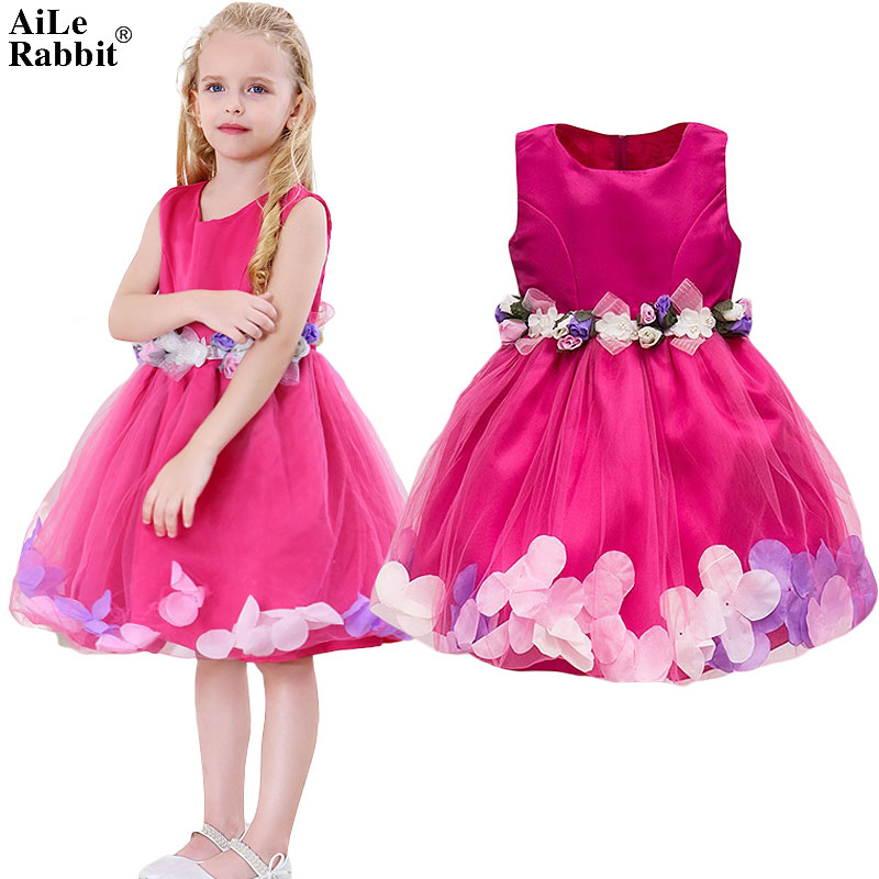 AiLe Rabbit  New Girls Wedding Dress Petal Flower Party Dress - Children's Clothing - Photo 1