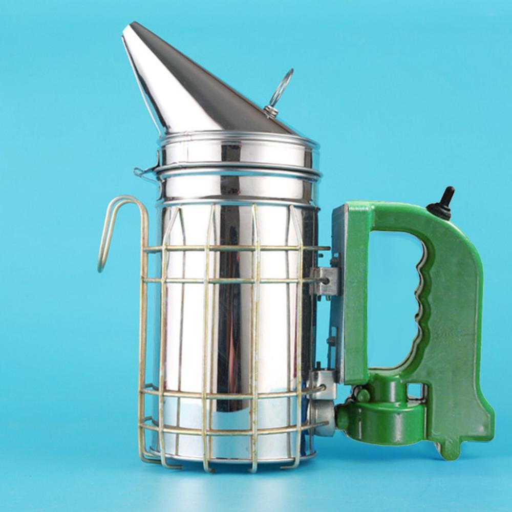 Electric Stainless Steel Smoke Sprayer Smoke Aerosolizing Anti-Varroa Smoker Smoke Sprayer Bee Training Device Beekeeping Tool