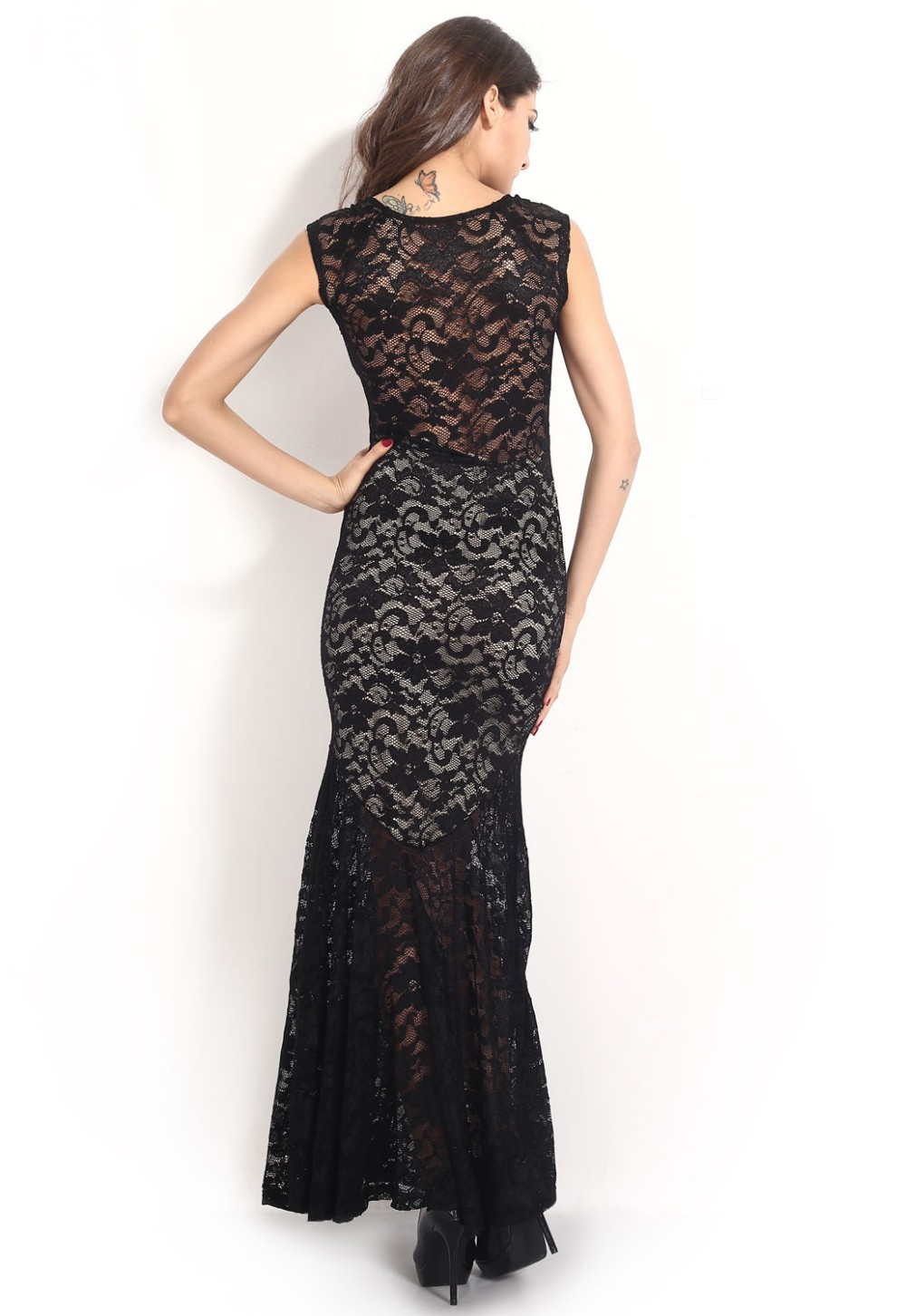 Two-toned-Sexy-Lined-Long-Lace-Evening-Dress-LC6350-15409