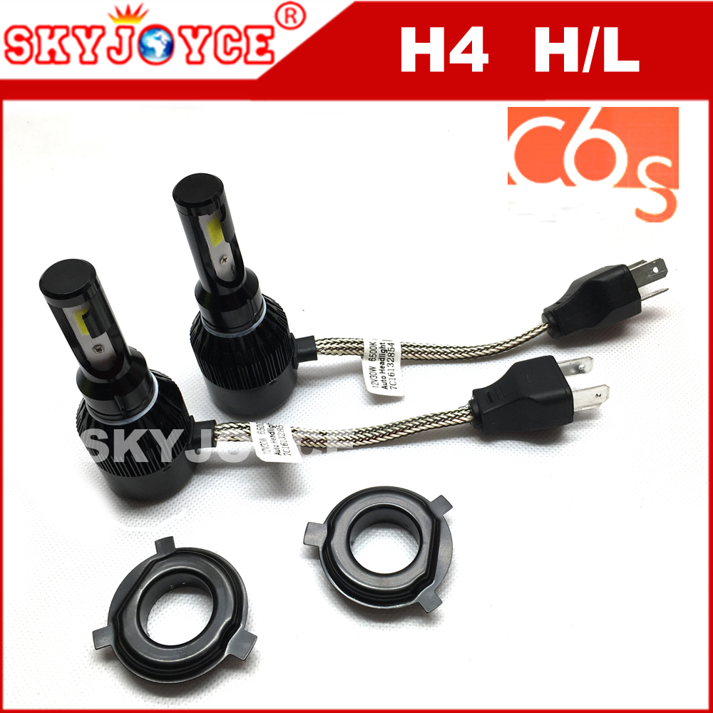 2pcs SKYJOYCE H1 auto headlamp kit H4 led headlight bulbs motorcycles car led headlight H4 hi lo led H4 H7 H11 car accessories 12v led light auto headlamp h1 h3 h7 9005 9004 9007 h4 h15 car led headlight bulb 30w high single dual beam white light