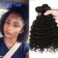 Rosa Продукты Волос Перуанский Глубокая Волна 3 Связки Перуанский Глубоко вьющиеся Волосы 7А Перуанский Девы Волос Глубокая Волна Человеческих Волос расширения