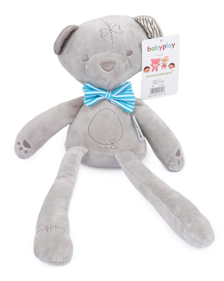 New 42cm Baby Plush Bear Sleeping Soft Doll Plush Toys Smooth Obedient Bear Sleep Calm Doll Baby Sleeping Doll Christmas Gifts