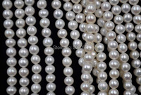 wholesale 4 strands 6 7mm white genuine fresh water pearl strands